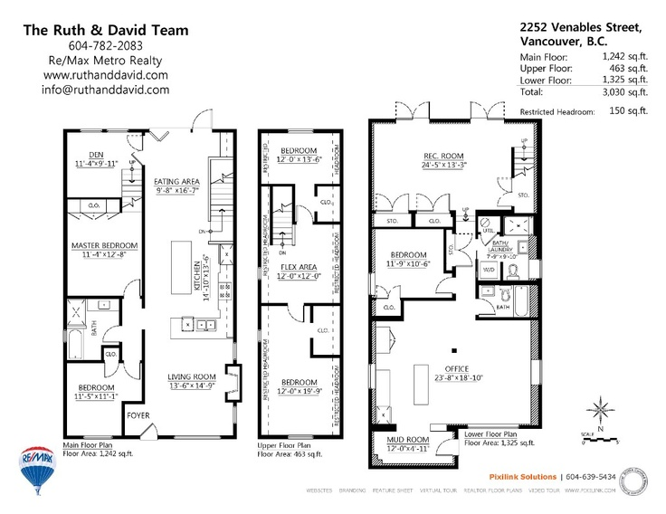 2252 venables street in vancouver floor plans house for House plans vancouver