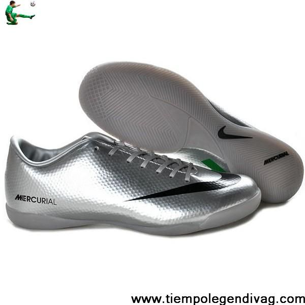 Star's favorite Nike Mercurial Vapor IX IC Indoor Shoes Silver Black Green Soccer Boots For Sale