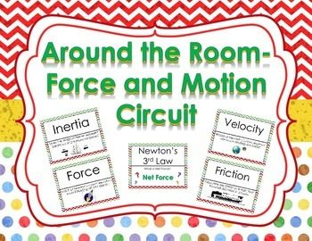 FREE!!!  Engage your students with this Around the Room Force and Motion Circuit Activity.  This activity contains 21 questions and answers.  Circuits are great for review and rotations to get your students up and moving!  Topics included are:  -Calculating Speed, Force, and Work -Balanced, Unbalanced, and Net Forces -Velocity and Acceleration -Newton's Laws of Motion -Inertia, Gravity and Friction -Speed vs.