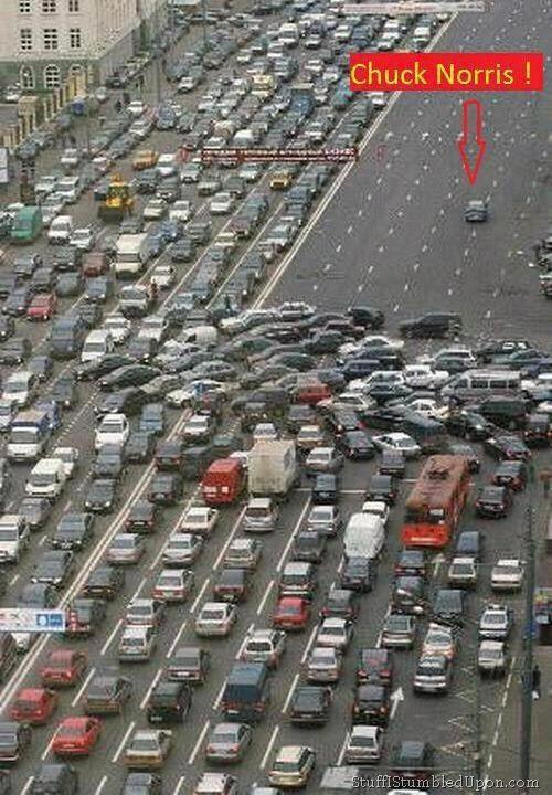 Chuck Norris causes traffic jam | Funny stuffs | Pinterest ...