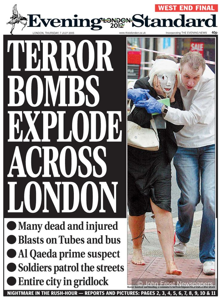 Image result for terror bombings hit london's transit system