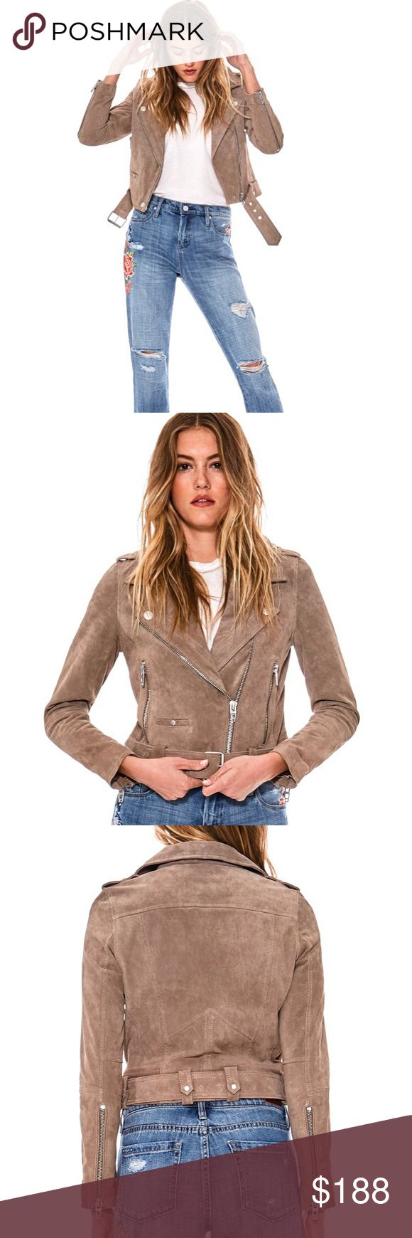 BLANK NYC Genuine Suede Leather Jacket BLANK NYC Genuine Suede Leather Jacket. Stock photos are to show fit. Jacket for sale is the same style and fit, but with added fringe detail at sleeves and front, as seen in my own photos. Gorgeous jacket, genuine suede, amazing quality. Blank NYC Jackets & Coats