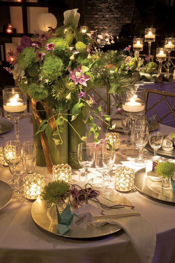 Spring Field NY Wedding Planners, Elegant Table Settings