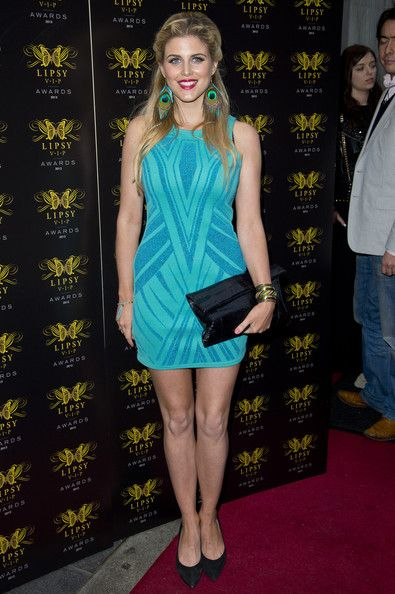 Ashley James Lookbook: Ashley James wearing Cocktail Dress (2 of 3). Ashley James chose a two-toned blue sleeveless frock for the Lipsy VIP Awards Ceremony.