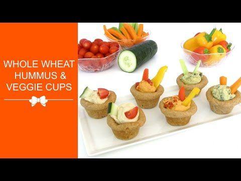 Lindsay Ann Bakes: {VIDEO} Healthy Whole Wheat Flatbread Hummus & Veggie Cups in a Cupcake Pan