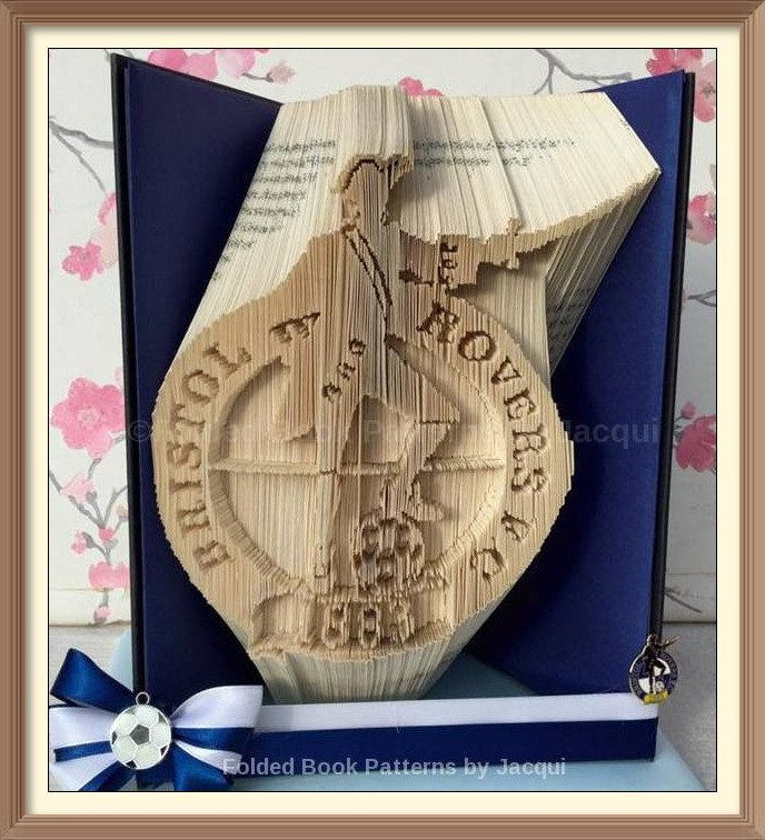 Bristol Rovers. Book Folding Pattern. by JHBookFoldPatterns on Etsy