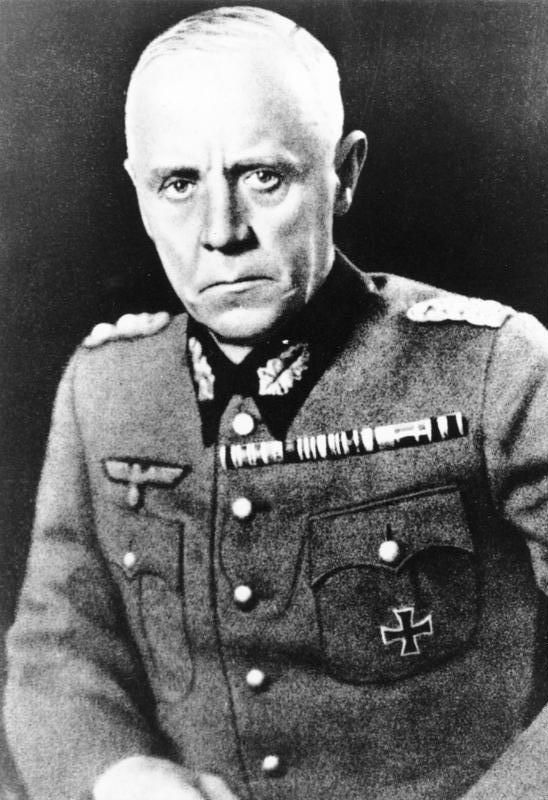 Ludwig Beck - became a major leader within the conspiracy against Hitler, and would have been provisional head of state had the 20 July plot succeeded, but when the plot failed, Beck was arrested.