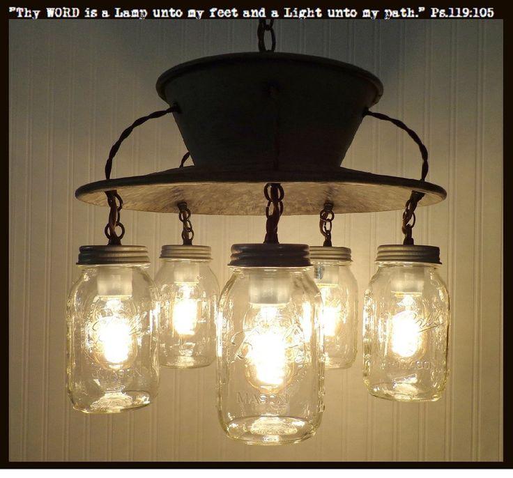 Lamp Goods's Mason Jar CHANDELIER Exclusive 5-Light