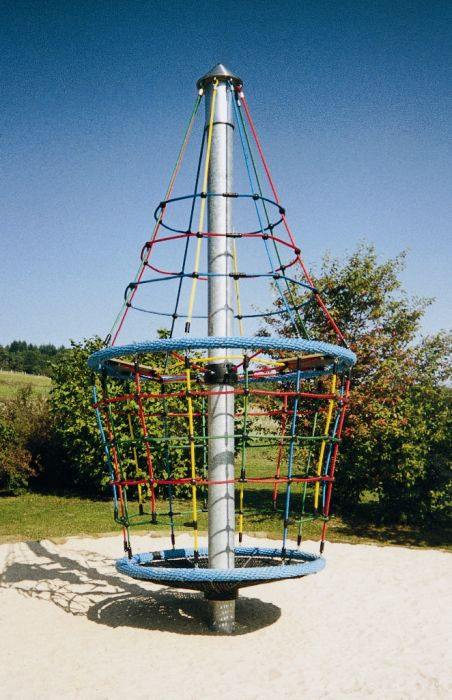 The Space Shuttle Spinner is a 4m high tower which will give you a greater adrenalin rush.  Includes 2 seats on horizontal net, adding an extra level of play. #RotatingTowers #PlaygroundCentre #PlaySpace #Playground #Fun #Play #SpaceShuttleSpinner