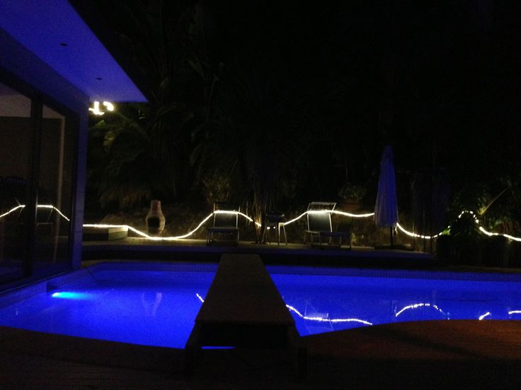 LED Snake lights around our pool...