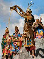 1535- Overleg Inca's hoe ze moeten reageren op de komst van de Spanjaarden-