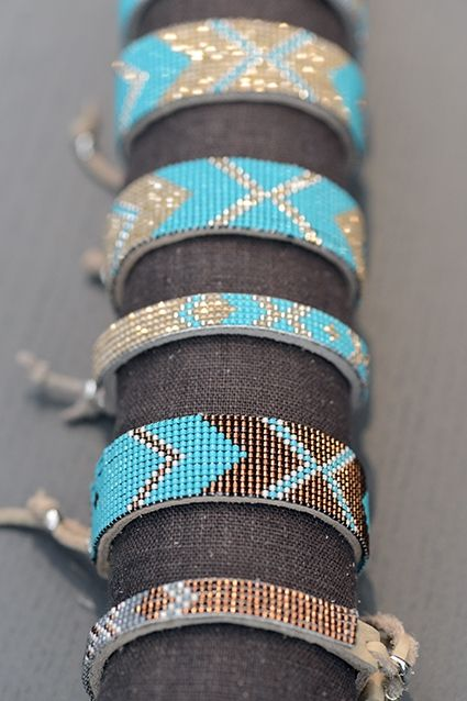 Bracelets. I love turquoise mixed with browns or bronze... So I do love them