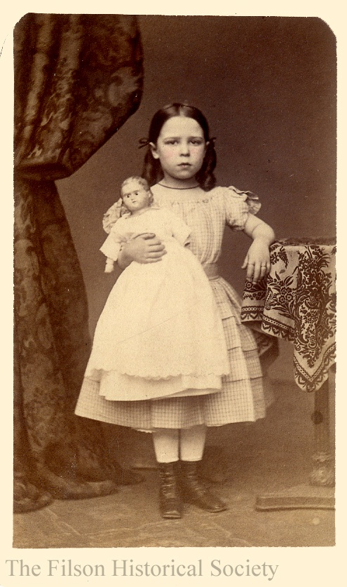 Mary Jesup Sitgreaves  (born 1858) with her doll.