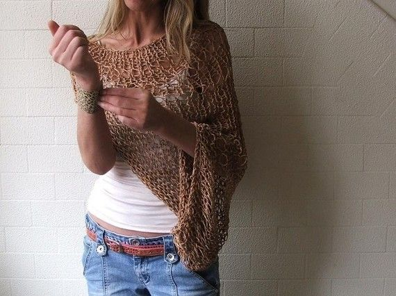 brown shrug Barley loose weave cotton shrug Ltd Edition left in this shade