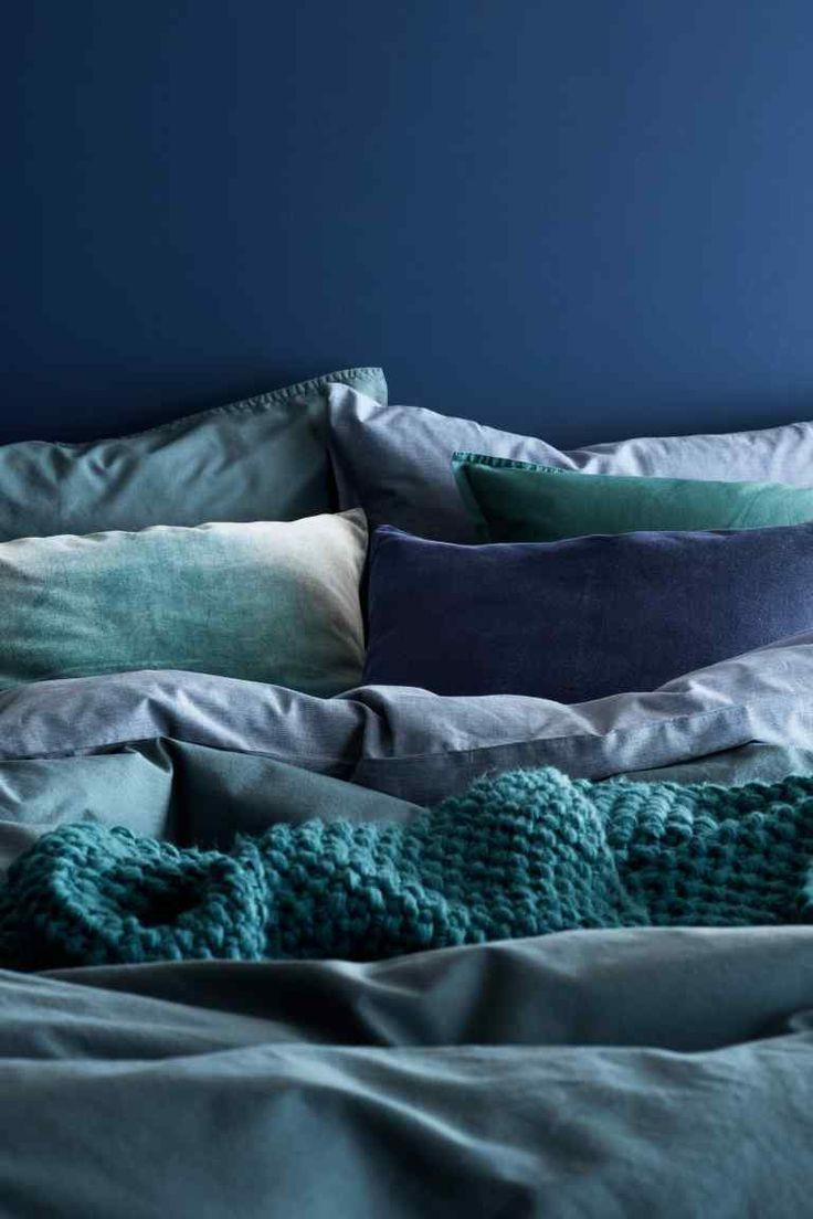 Velour Bettwäsche Housse De Coussin En Velours In 2019 Heim Blue Bedroom Linen