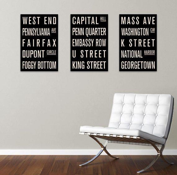 Washington Subway Sign Prints