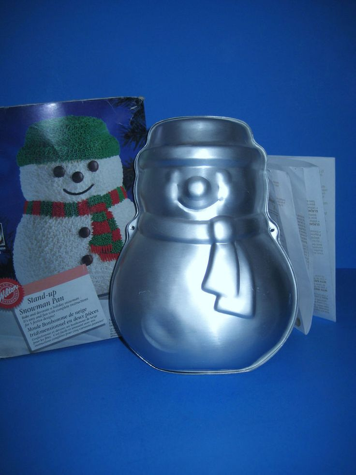 WILTON STAND-UP SNOWMAN CAKE PAN 2 Piece 2105-2047 IOB