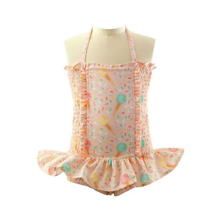 NEW! - RACHEL RILEY - Ice Cream Ruched Swimsuit