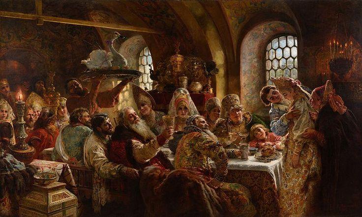 A Boyar Wedding Feast, Konstantin Makovsky, 1883