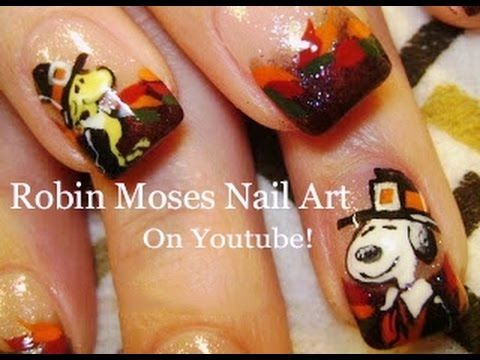 46 best thanksgiving nail art designs and tutorials images on thanksgiving nail art snoopy and woodstock nails design tutorial http47beauty prinsesfo Images