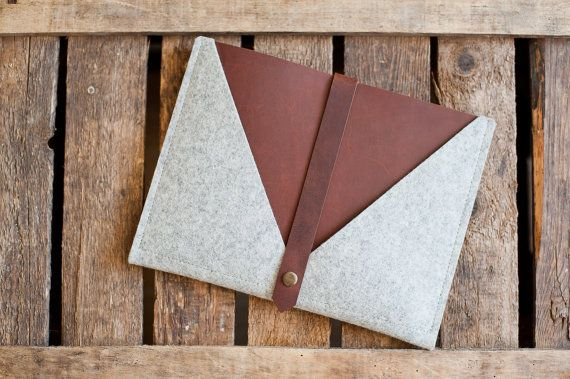 Hey, I found this really awesome Etsy listing at https://www.etsy.com/listing/164930317/ipad-envelope-rough-edge-leather-wool