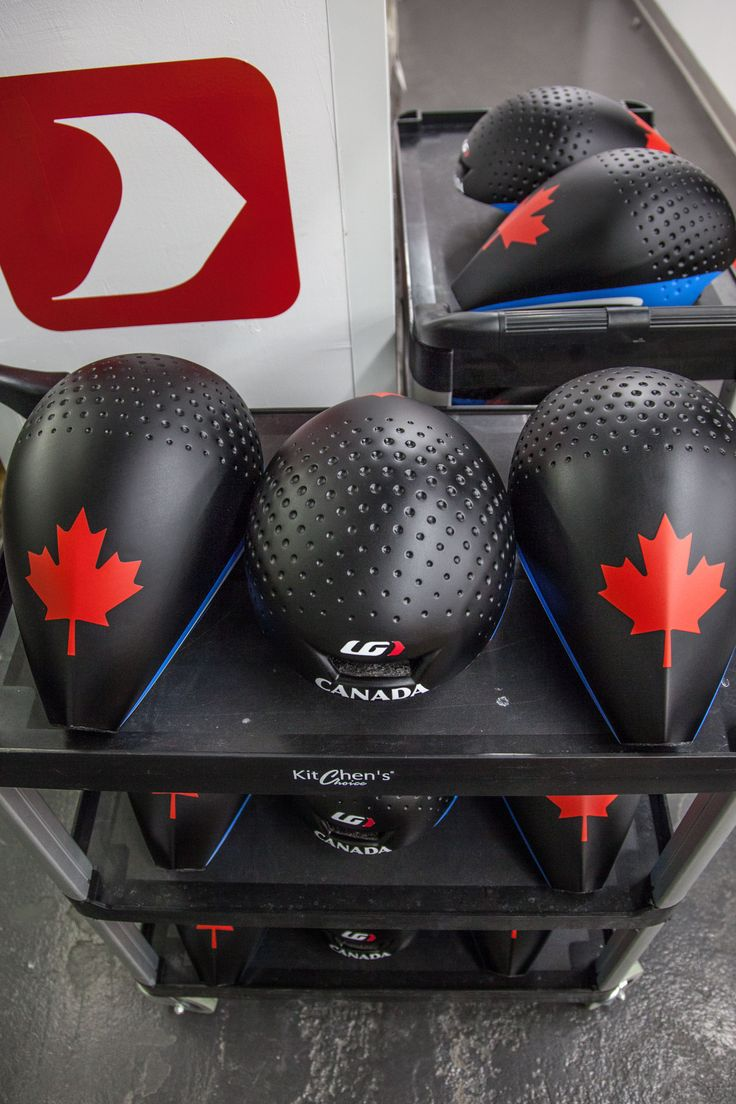 P-09 Helmets for the Canadian National Track Team.