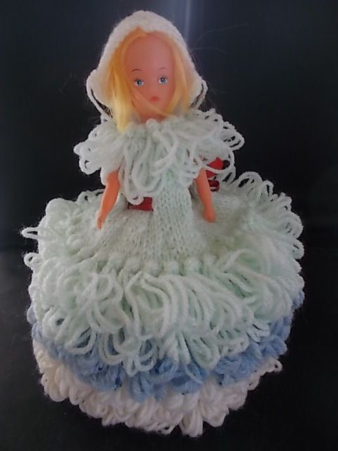 FAB 1970s Vintage Retro Handmade Hand Knitted Toilet Roll Doll Cover Holder 2 in Home, Furniture & DIY, Bath, Toilet Roll Holders | eBay