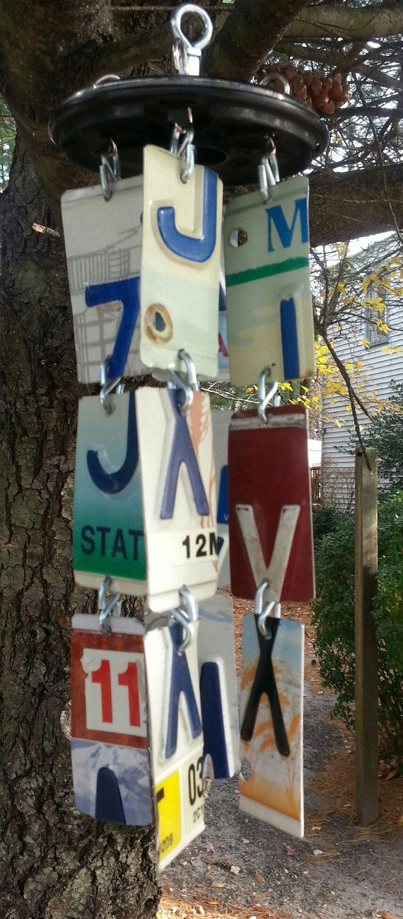 License Plate Art wind chime by TraveledPast on Etsy, $29.00