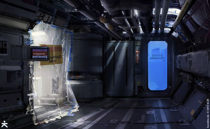 ArtStation - Killzone Shadow Fall - Cassandra corridor, karakter design studio