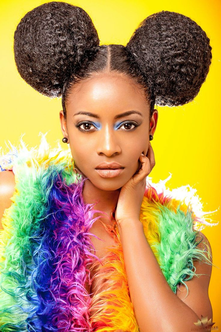 afro puffs fashion editorial