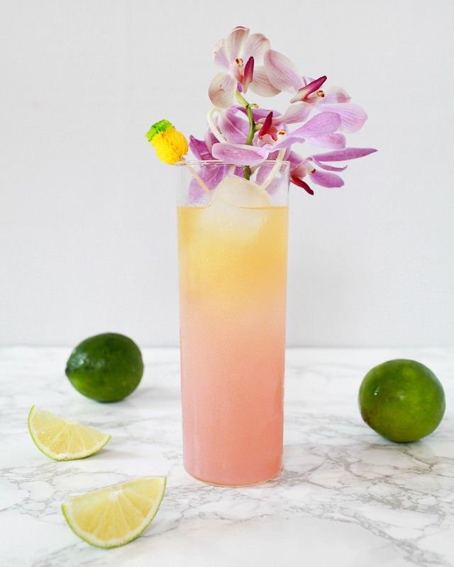 South Seas Sling Tiki Cocktail Recipe / Liquorary for Oh So Beautiful Paper