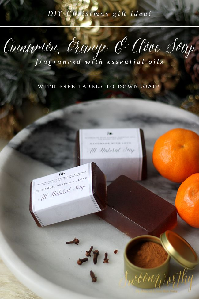 DIY Cinnamon Orange and Clove Christmas Soap - Swoon Worthy