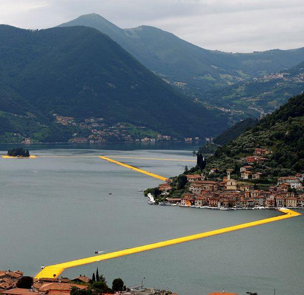 Muelles flotantes Lago Iseo Christo lo hace posible