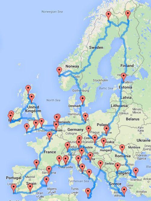 Ultimate European road trip