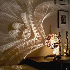 african gourd lamp turns room into dreamlike space-artist Przemek
