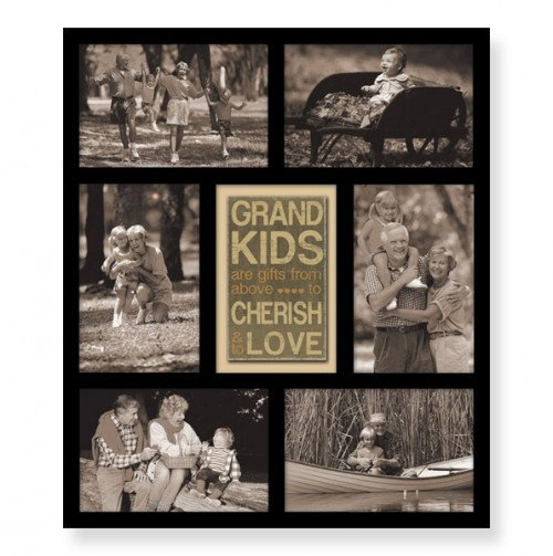 Grandkids Multi Opening Collage Picture Frame Proud