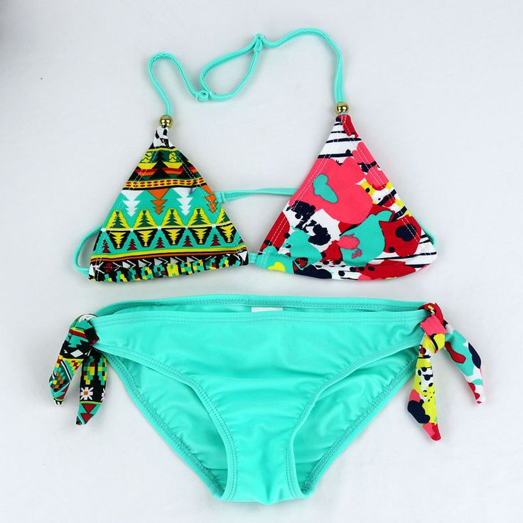 2016 New Children Swimwear Baby Kids Cute Bikini Girls split Two Pieces swimsuit Bathing suit Beachwear kids biquini infantil