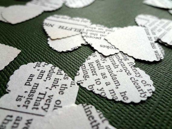 Shakespeare Wedding Confetti White Paper Confetti Book by Bookity, $6.00