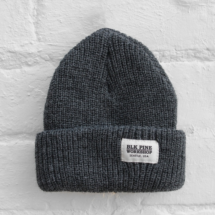 BLK Pine Workshop Beanie - Grey - £24.99