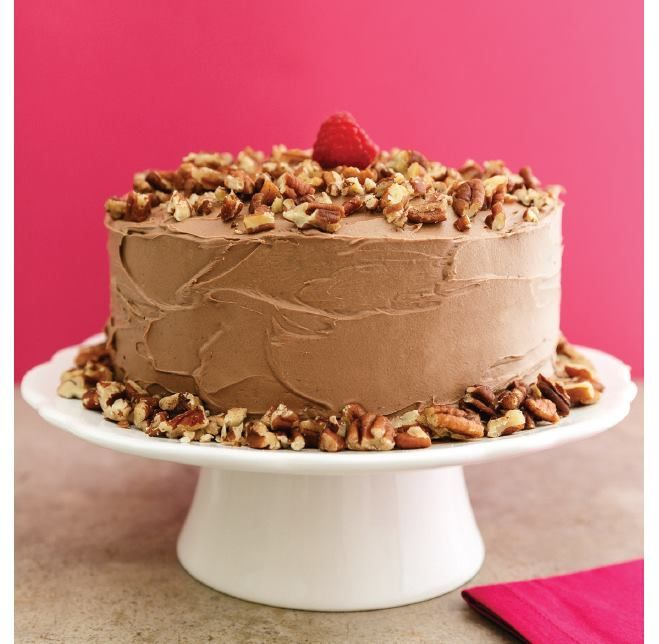 """For Recipe: CLICK on PIC and when taken to 2nd pic click again..""""Low-Carb"""" CHOCOLATE PECAN CAKE...  ...Recipe by George Stella... ...For tons more Low Carb recipes visit us at """"Low Carbing Among Friends"""" on Facebook"""