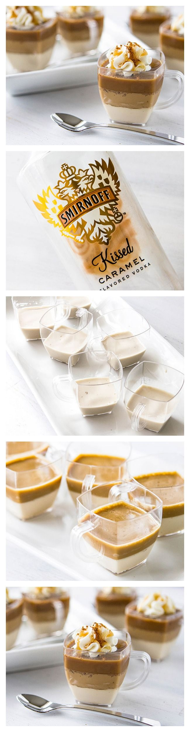 Caramel Macchiato Jelly Shots. Recipes -> http://www.ilgilibilgili.com/en/category/food-drink