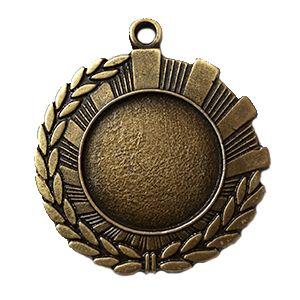 Medalla de 5 cm diámetro, ref Media espiga en oro envejecido