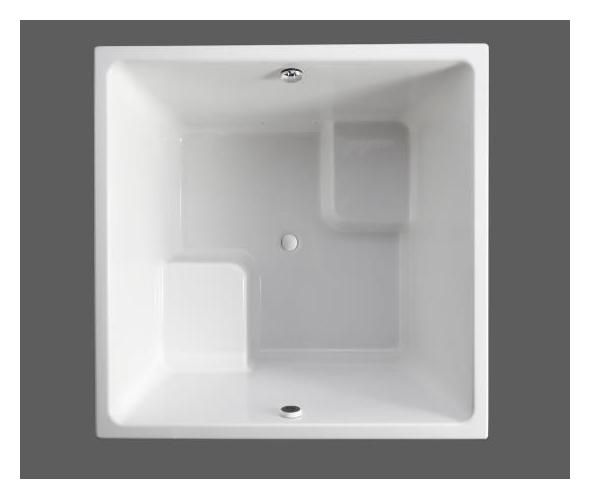 Kohler Japanese Soaking Tub | Kohler K-1968-0 White Underscore Drop In Cube Soaking Bath Tub from ...