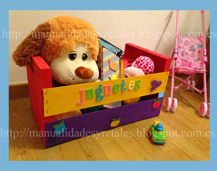 Manualidades y retales: Caja para juguetes