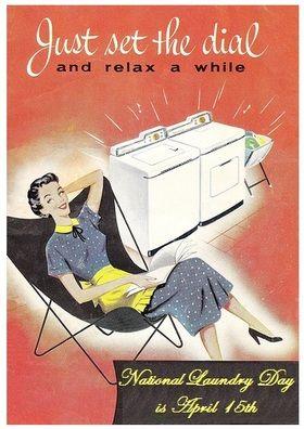 laundry room retro wallpaper - photo #29