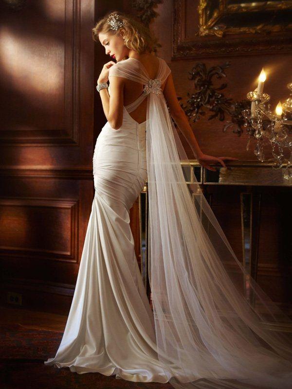 Galina Signature Wedding Dress - I love the back of this dress.