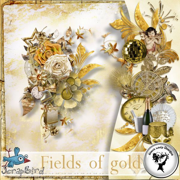 Fields of gold - Embellishments by Black Lady Designs