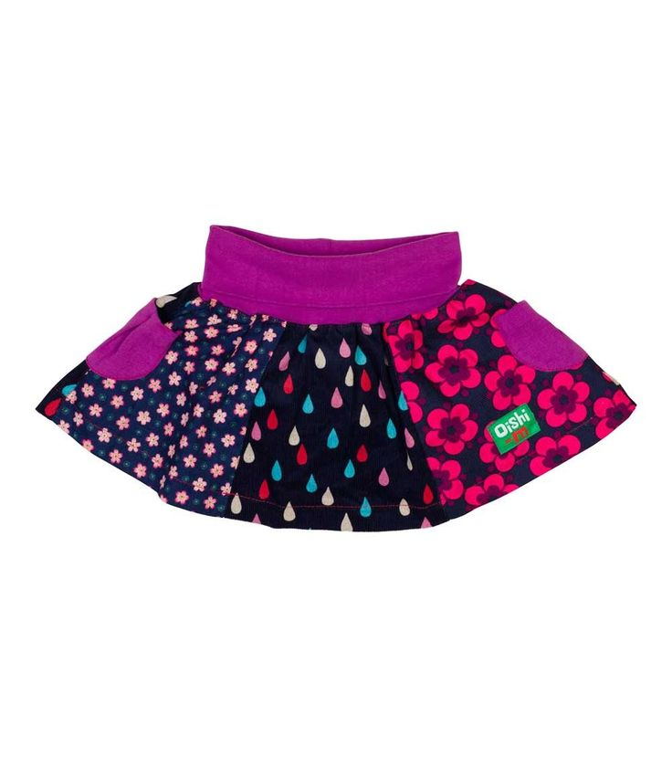 Rosa Oceans Skirt, Oishi-m Clothing for kids, circa 2015, www.oishi-m.com