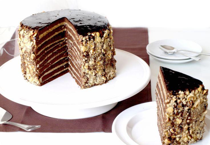 Tarta de chocolate y praliné   Velocidad Cuchara