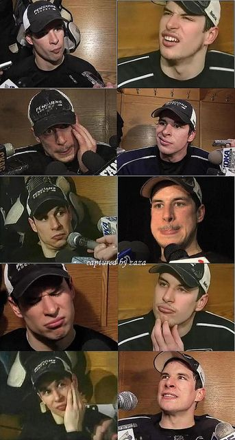 Weird faces of Sidney Crosby hahaha - Remind me why we all find him attractive? Hahahaha